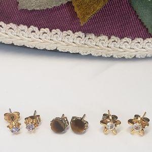 Jewelry - 3 Gorgeous Pairs Vintage Stud Earrings